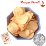 Bataka Tikhi Wafer - Bataka Tikhi Wafer 250 gms with Laxmi-Ganesha Coin