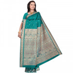 Bottle Green Butter Silk Saree