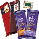 Cadbury Bars - 2 Temptations, 2 Cadbury Dairy Milk Silk & Card