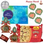 Celebration Treat - Haldiram Soan Papdi 250 gms, Celebrations, Kalash Shubh Labh with 4 Diyas and Laxmi-Ganesha Coin
