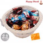 Choco Basket - Truffle Chocolate 300 gms in Decorative Basket with Laxmi-Ganesha Coin
