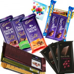 Chocolate Time - 3 Cadbury Dairy Milk Silk, 3 Cadbury Bournville, 3 Temptations, 5 Assorted Bars & Card
