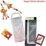 Combo of Perfumes - Lomani Original + UDV Perfumes with Bhaiya Bhabhi Rakhi Pair and Roli-Chawal