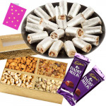 Combo for You - Kaju Anjir Rolls,  Assorted Dryfruits, 2 Dairy Milk