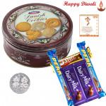 Cookies & Choco - Danish Butter Cookies, 5 Cadbury Bars with Laxmi-Ganesha Coin