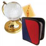 Corporate Combo - Crystal Globe, CD Holder and Card