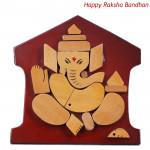 Ganesha on Wooden Slab