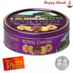 Danish Butter Cookies - Danish Butter Cookies with Laxmi-Ganesha Coin