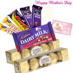 Delightful Chocolates - Cadbury Hamper, 2 Ferrero Rocher 4 pcs and Card
