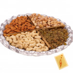 Designer Dryfruit Tray - Assorted Dry fruits 400 gms in Tray