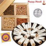 Diwali Time - Kaju Anjir Roll 250 gms, Assorted Dry fruits 200 gms with Laxmi-Ganesha Coin