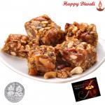 Dryfruit Chikki with Laxmi-Ganesha Coin