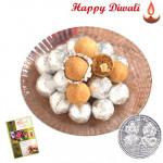 Dryfruit Kachori - Dryfruit Kachori (10 Pcs) Pack with Laxmi-Ganesha Coin