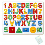 English Alphabet Uppercase with Numbers and Shapes