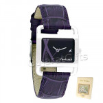Fastrack Watch Black Dial Lavender Strap