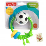 Fisher-Price Soccer Ring Clacker Rattle