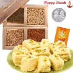 For this Diwali - Haldiram Soan papdi 250 gms, Assorted Dry fruits 200 gms with Laxmi-Ganesha Coin