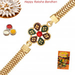 Decorative Gold Plated Rakhi
