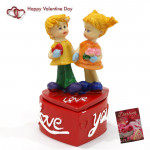 Sweet Couple On Heart Case & Valentine Greeting Card