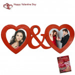Heart & Heart Photo Frame & Valentine Greeting Card