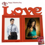Double Love Photo Frame & Valentine Greeting Card