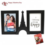 Double Eiffel Photo Frame & Valentine Greeting Card