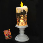 Swirling Glitter Couple Candle (with light) & Valentine Greeting Card