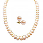 New Single Line Peach Pearl Necklace