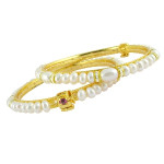 Pearl Stone Bangle