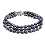 Three String Grey Pearl Bracelet