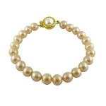 Single Line Peach Pearl Bracelet