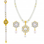 Valentines Special Pendent Set with Watch