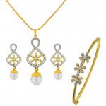 Flower Pendant Set With Bracelet
