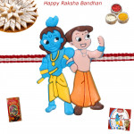 Krishna with Friend Rakhi