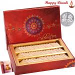 Kaju Katli - Kaju Katli 500 gms with Laxmi-Ganesha Coin