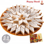 Kaju Katli with Laxmi-Ganesha Coin