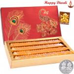 Kesar Kaju Katli - Kesar Kaju Katli 1 kg with Laxmi-Ganesha Coin