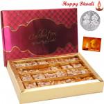 Kesar Mohanthal - Kesar Mohanthal 500 gms with Laxmi-Ganesha Coin