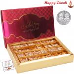 Kesar Mohanthal with Laxmi-Ganesha Coin