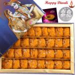 Kesar Penda - Kesar Penda 1 kg with Laxmi-Ganesha Coin