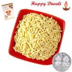 Mini Gathiya - Mini Gathiya 250 gms with Laxmi-Ganesha Coin