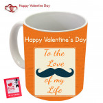 To the Love of My Life Happy Valentines Day Mug & Valentine Greeting Card
