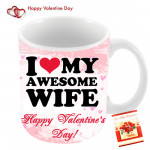 I Love My Awesome Wife Valentines Day Mug & Valentine Greeting Card
