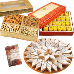 Nice Hamper - Kaju Katli, Kesar Penda, Assorted Dryfuits