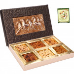 Overwhelming Gift - 1 Kg Assorted Dryfruits (6 items) in Decorative Box