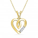 Cute Heart Diamond Pendant