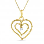 Valentines Special Double Heart Diamond Pendant