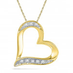 18 Kt Gold Cherish Heart Diamond Pendant