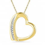 18 Kt Gold Glitterati Heart Diamond Pendant
