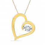 925 Sterling Silver Valentines Day Special Love Of My Life Diamond Pendant